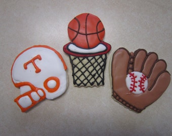 12 Sports Decorated Cookies