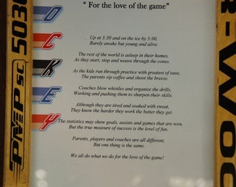 "Hockey Poem ""For the love of the game"""