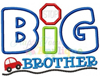 Big Brother Cars Machine Embroidery Design