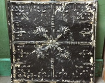 """Antique ceiling tile 24""""x24"""" fleur de lis pattern"""