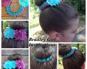 Custom Dance Ballerina Everyday Wear Bun Wrap Hair Bow