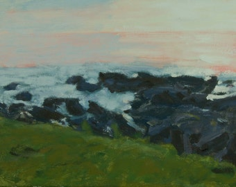 Original Oil Painting, Seascape, Maine Coast, Ogunquit by Robert Lafond