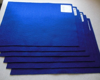 KUNIN Rainbow Classic Felt Six  9x12  Sheets Royal Blue