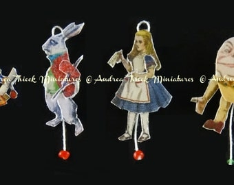 Alice in Wonderland Theme - Miniature Jumping Jacks