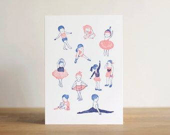 The Nonchalants - 'The Ballerinas' 5x7 Letterpress Print