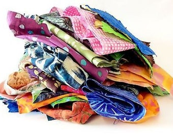 Batik Fabric Strips Scrap Pack 100% Cotton True Batik fabric lot BY THE POUND