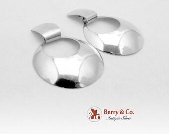 Modernist Earrings Sterling Silver