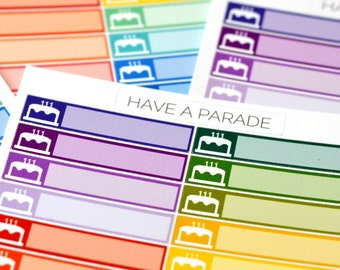 24 Birthday Stickers for your Erin Condren Life Planner