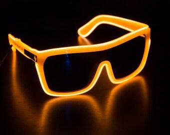 Spy Flynn Inspired, Sunglasses, Glow in the Dark, Light Up, Rave Wear, Tron, Costume, LED