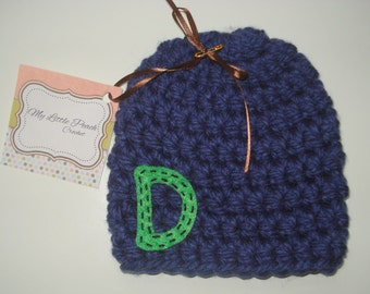 baby boy gift - baby boy hat - monogram baby gift - monogram baby hat - baby hat - baby gift