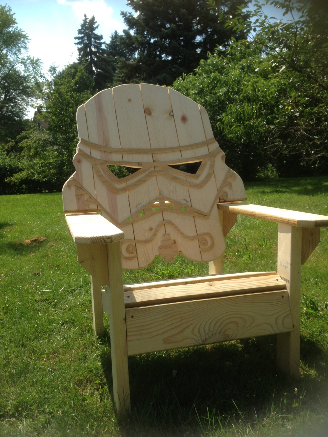 Unfinished Star Wars Storm Trooper Chairadirondack Chair