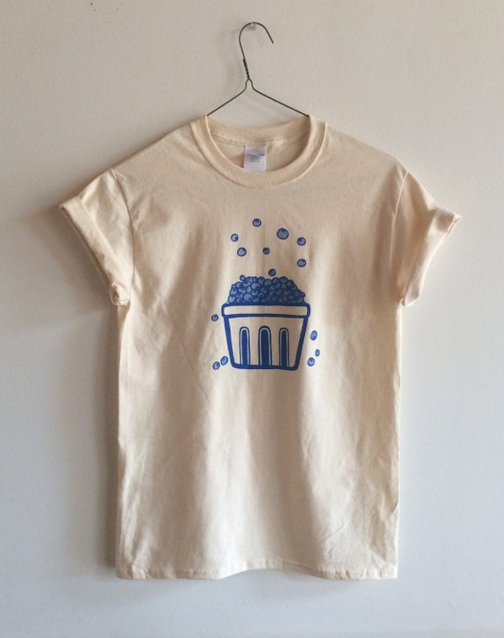 Screen Printed Blueberry T Shirt Fruit Print By Andmorgan