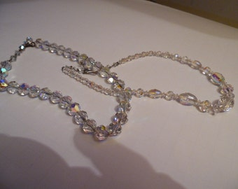 Two Diffferent Clear Crystal Necklaces
