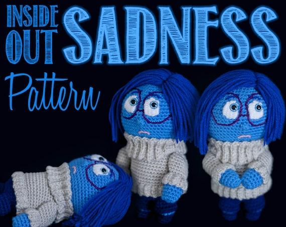 Inside Out Amigurumi Patterns : Sadness Inside Out Amigurumi Crochet Pattern