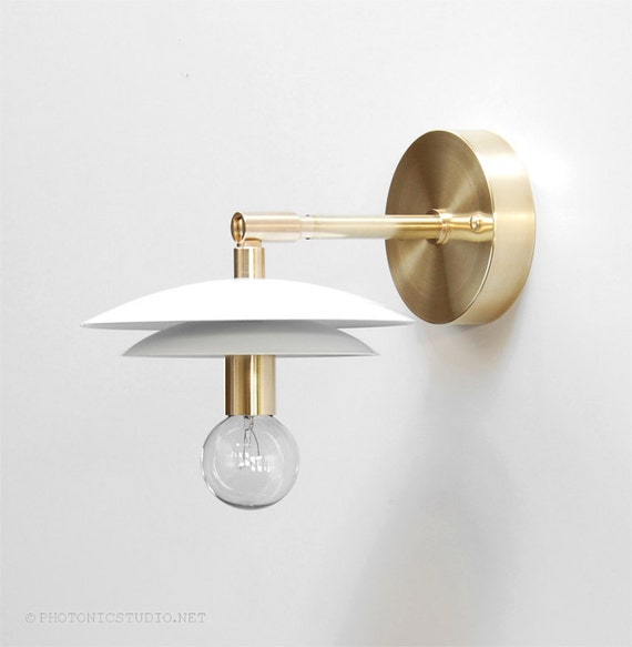 Modern Brass Wall Lamps : Modern Wall Lamp Modern Sconce Modern Wall by PhotonicStudio