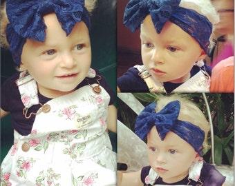 Lace floppy bow headbands