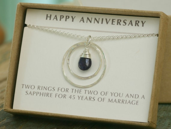 45th anniversary gift, 45th wedding anniversary gift, sapphire wedding ...