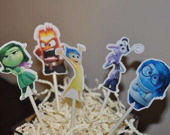 Inside out Cupcake Toppers Set of 12