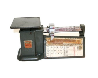Vintage US Postage Scale by Triner - Old Airmail Scale, Retro Office Decor