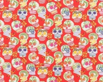 Alexander Henry - Mini Calaveras - #6463B - Red