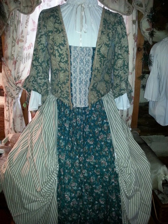 18 th Century F & I Style Day Dress Custom Order Example