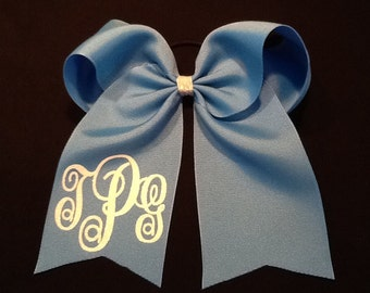 Cheer Bow with Glitter Monogrammed Personalized Cheer Bow Custom Cheer Bow