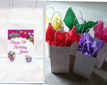 Shopkins party favor goody bags personalized set of 10