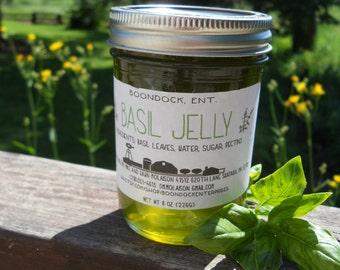 Basil Jelly - Herb Jelly - Herbal Jelly - Italian Basil Jelly - Marinade - Vinaigrette - All Natural - Hostess Gift - Housewarming Gift