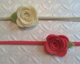 Felt rose