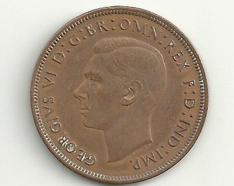 a nice old 1940 Great Britain Large Penny KM845 coin