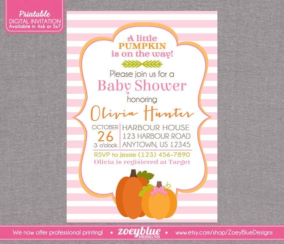 Little Pumpkin Baby Shower Invitations is one of our best ideas you might choose for invitation design