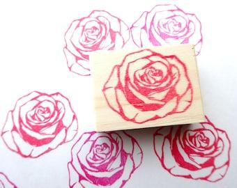 Rose rubber stamp, Flower wedding, Elegant rose, DIY wedding, Red flower, Japanese stationery, Gift wrapping idea, Custom stamp Gift for her