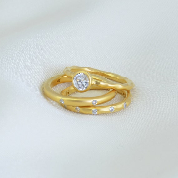 stackable rings white topaz rings minimalist ring by