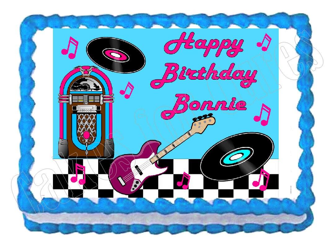 Rock and roll a os 50 a os 60 fiesta decoraci n torta for Decoracion fiesta anos 60