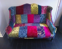 2 Seater Patchwork Sofas Made to order