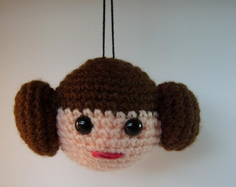 princess leia inspired crochet Bauble for Star Wars fans!