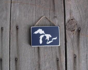 Tiny Sign Great Lakes Michigan