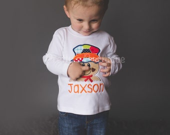 Boy's Fall Scarecrow T Shirt / Bodysuit for Newborn, Toddler & Youth Personalized with Name