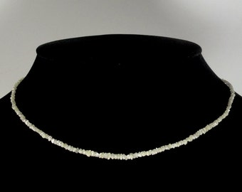 Diamond Rough Bead Necklace 1.5-2.5MM Ready to wear Necklace (604)