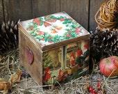 Christmas Decoupage Box Christmas Gift Box Handmade Christmas Box Vintage Christmas Box Rustic Christmas Decor Scandinavian Christmas