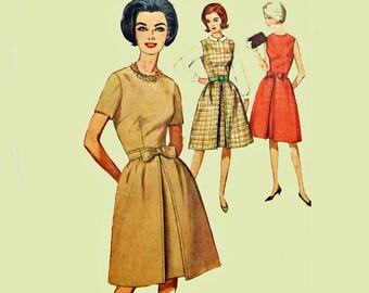 Vintage 60s Dress Pattern / Womens Jumper Pattern / Simplicity 5095 Bust 31 Vintage Sewing Patterns for Women / 1960s Dress Patterns