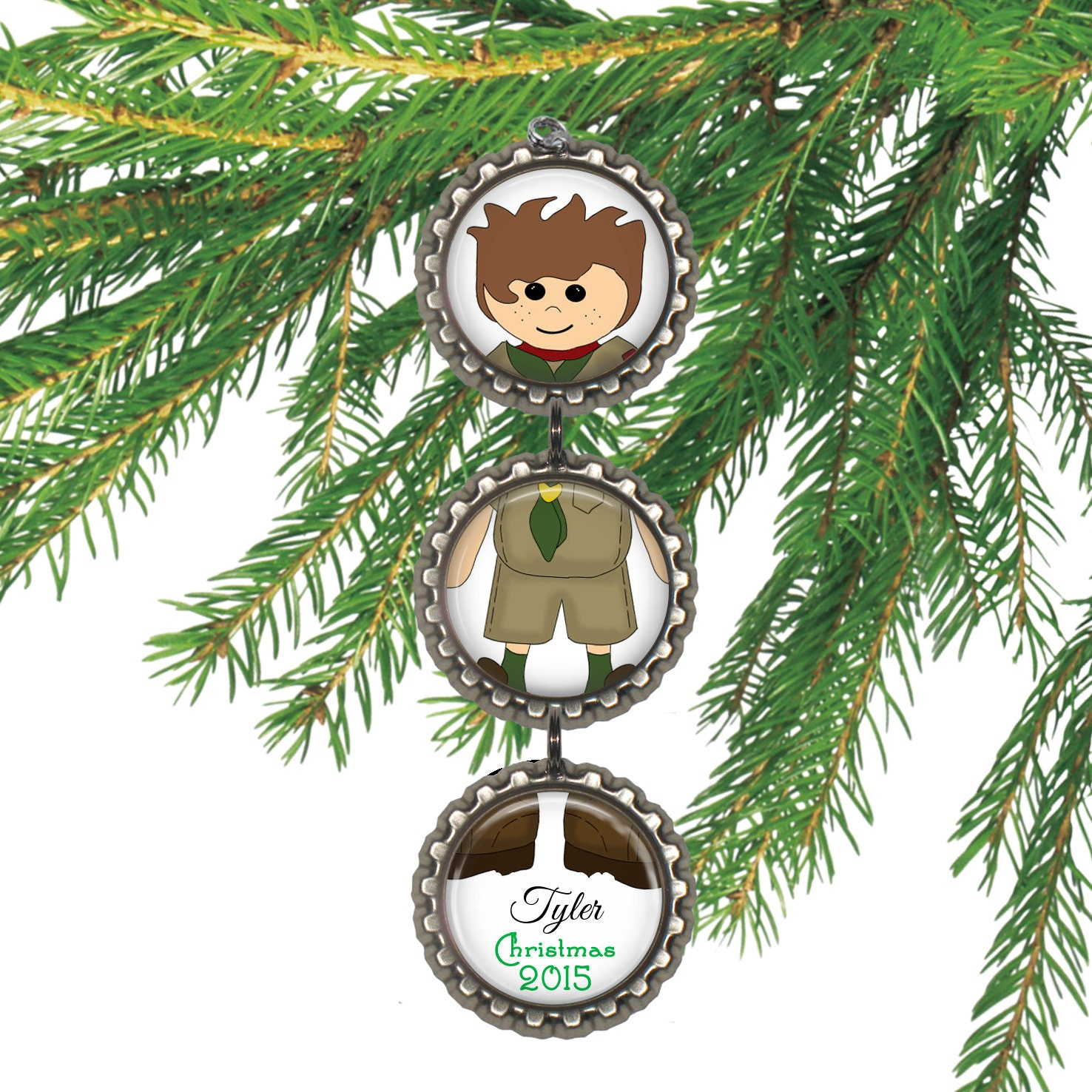 Sale scout christmas ornament personalized christmas for Christmas ornaments sale