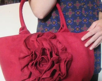 Vintage Red Suede Murval Bag