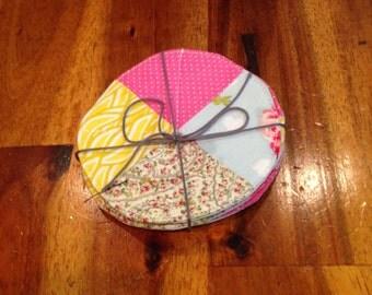 Vintage Floral Coasters- Set of Four
