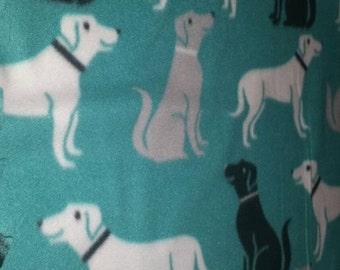 LAST ONE ~ Labrador Fleece Blanket, Labrador Fleece, Dog Fleece Chew Blanket