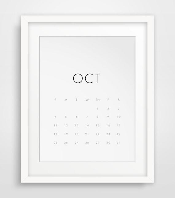 Minimalist Calendar 2016 : Wall calendar monthy printable by