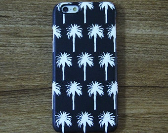 Black White Palm Tree iPhone 6 Case,iPhone 6 Plus Case,iPhone 5s Case,iPhone 5C Case,4,Samsung Galaxy S6 Edge/S6/S5/S4/S3/Note 3/Note 2 Case