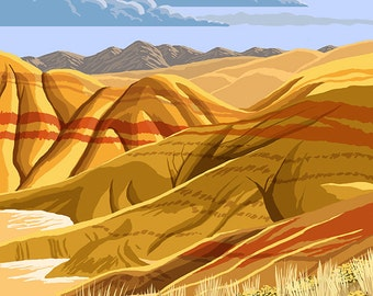 Painted Hills - John Day Fossil Beds, Oregon (Art Prints available in multiple sizes)