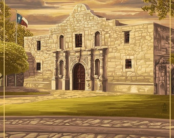 The Alamo Sunset - San Antonio, Texas (Art Prints available in multiple sizes)