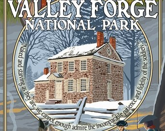 Valley Forge, Pennsylvania - Montage Scenes (Art Prints available in multiple sizes)